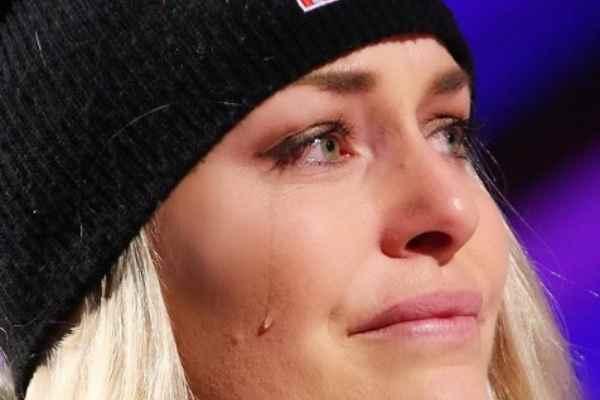 Lindsey Vonn in lacrmine