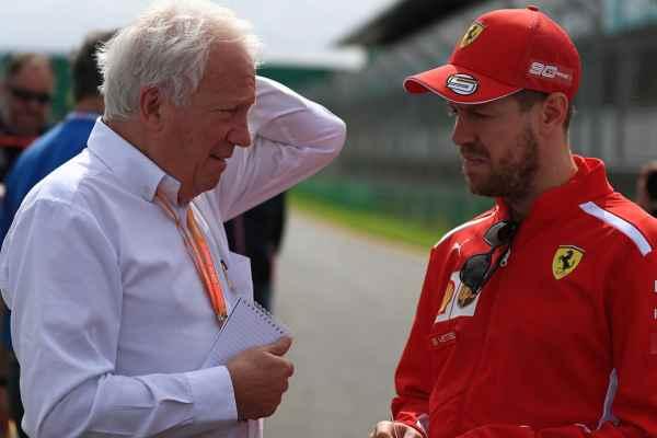 Charlie Whiting with Sebastian Vettel